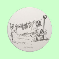 One Knights Rest Vintage Caricature Drink Coaster!